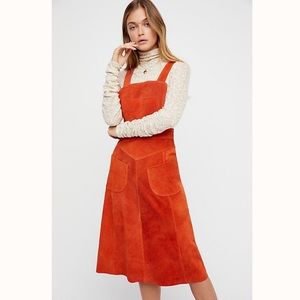 NEW Free People Suede Apron Dress